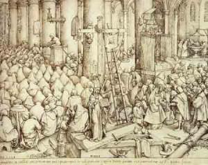Bruegel : Les  sacrements des catholiques.La bible des protestants  dans Art et la religion lafoi-300x238