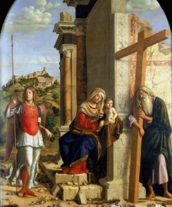 Cima da Conegliano :La vierge ,St Michel et St André  dans Art et la religion Cima-da-Conegliano-249x300