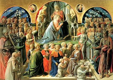 le couronnement de la vierge par Fra Filippo Lippi dans Art et la religion couronnement12
