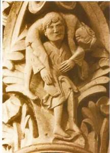 Eugen Drewermann :Judas ,la loi ou l'amour dans JESUS Passion et Résurrection jesus-porte-judas-vezelay1-216x300