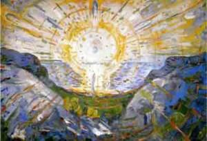 Eugen Drewermann :Le message pascal des femmes dans JESUS Passion et Résurrection munch-le-soleil-300x204