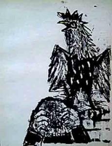 Le reniement de Saint Pierre et le coq dans JESUS Passion et Résurrection pierre-et-le-coq-otto-dix-230x300