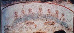 Histoire de la messe : « la fraction du pain » des premiers chrétiens dans Histoire de la messe 2es-eucharistie_callixte-300x134